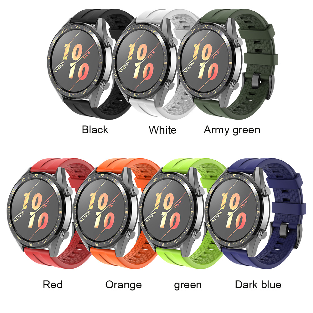 Outdoor Silicone Strap For Huawei GT Watchband 22mm Width Silicone Replacement Wristband Bracele For Samsung Galaxy Watch 46mm