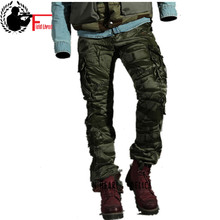 Fashion Mens Pants Spring Cotton Camouflage Military Pants Men Straight Combat Casual Tactical Overalls Casual Male Trousers