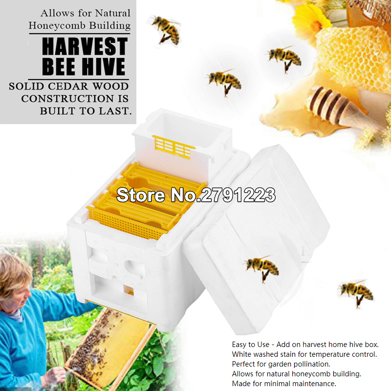 Harvest Bee 24 X 14.8 X 16.5cm EPS Beekeeping King Box Pollination Box For Home