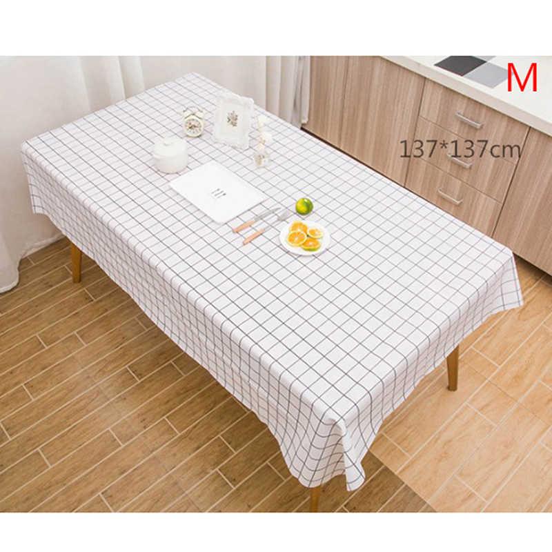 מפת שולחן שחור ולבן משובץ פשתן מפת שולחן מלבני מטבח סלון שולחן קפה שולחן קישוטים לבית חדש