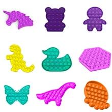 Fidget Toy Concentration Anti-Stress Autism-Sensory Push Bubble New Popit Puzzle 11-Styles