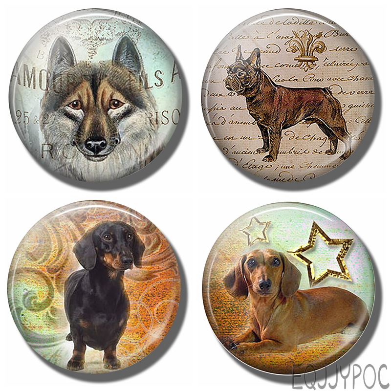 Магнитная наклейка на холодильник для милой собаки, стеклянный купол, доска для сообщений для щенков, подарок для любителей животных, щенков, магнитный держатель для заметок, домашний декор