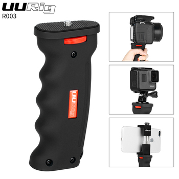 UURig R003 Hand Grip Stabilizer Holder Universal Plastic Handle for Gopro Action Camera DSLR SLR Camera Smartphone 1/4 Screw Vlo