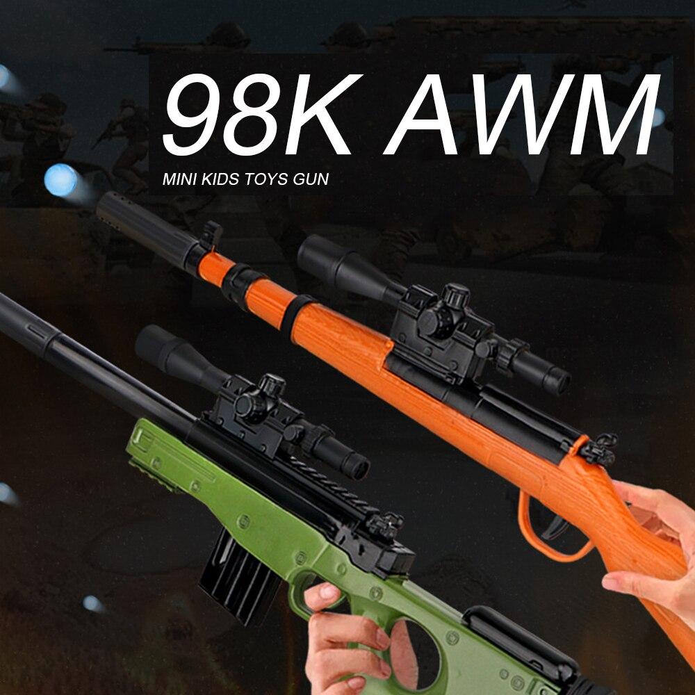 Outdoor Toys Kids Guns Weapon AK47 Groza 98K Rifle Pistol Airsoft Air Guns Plastic Model Manual Shooting Paintball Gun Boys Toy