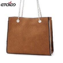 Матовая большая сумка женская новая простая повседневная сумка художественная сумка на плечо с заклепками