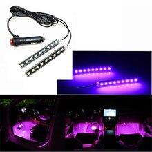 Интерьер автомобиля светодиодный длины подошвы украшения светильник полосы для Hyundai ix35 iX45 iX25 i20 i30 Sonata,Verna Solaris Elantra Accent