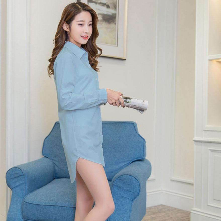 Casual Loose Women Shirts Collar Plus Size Blouse Long Sleeve Buttons White Shirt Women Tops Streetwear 7