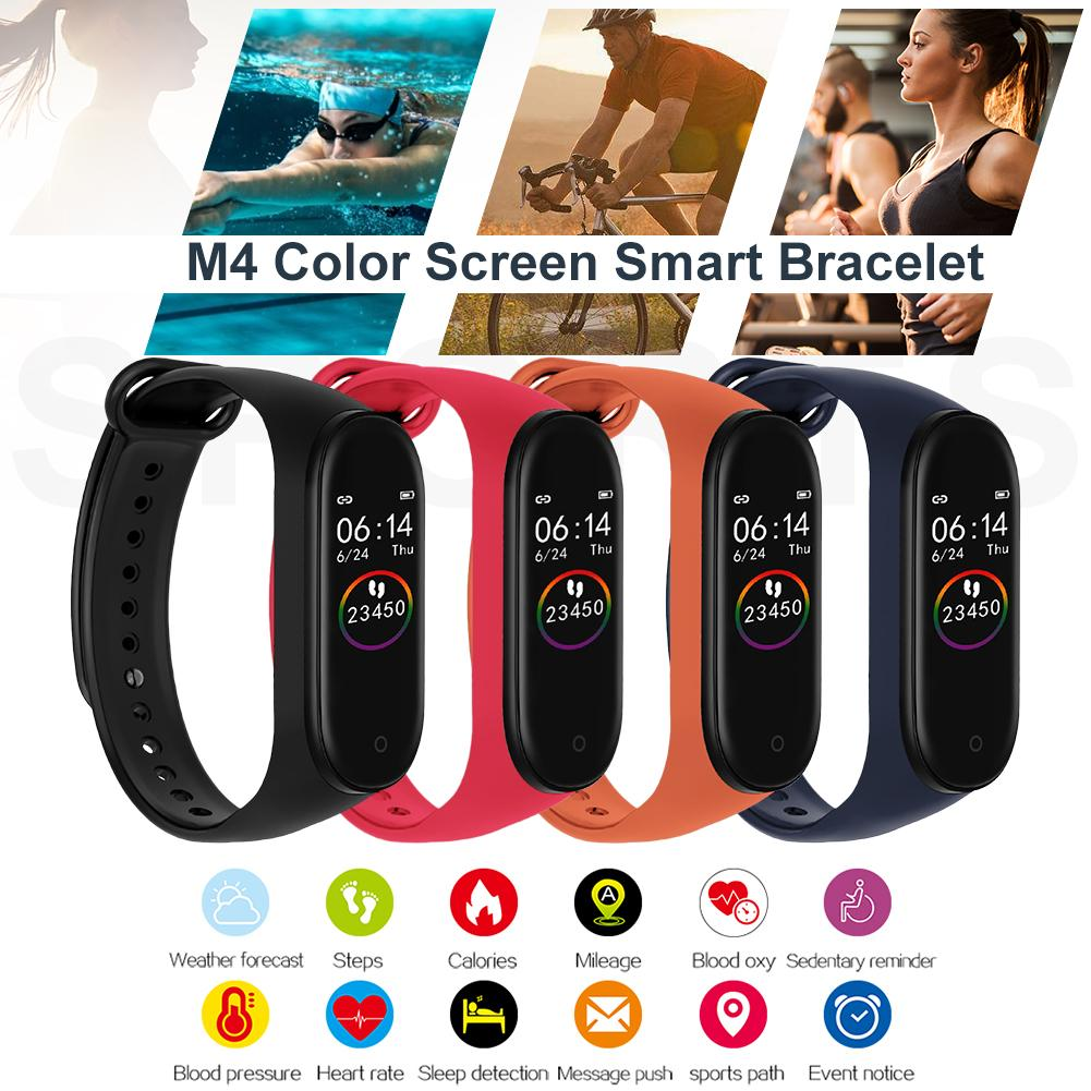 M4 Smart Band Wristband Heart Rate/Blood/Pressure/Heart Rate Monitor/Pedometer Sports Bracelet PK M3 Health Fitness Bracelet image