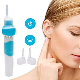 Electric Children Adult Safe Ear Wax Pick Removal Cleaning Tool With LED Light  Easily Sucking Away The Powder And Blocky Earwax