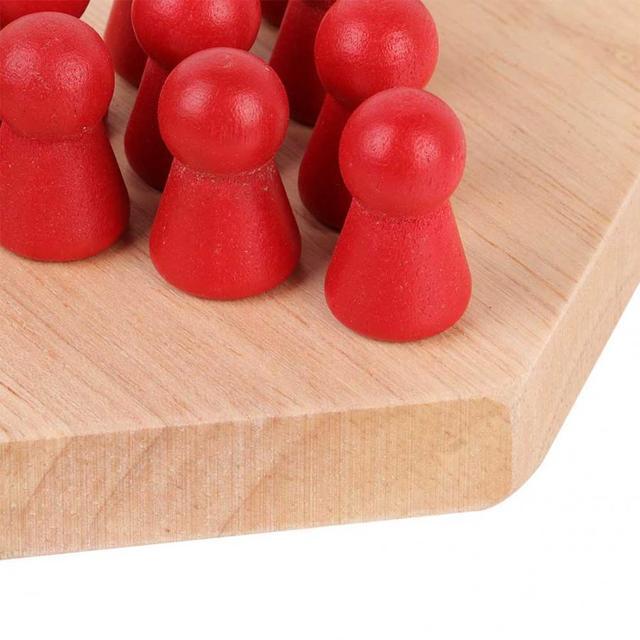 Jeu de dames chinois en bois conseil éducatif enfants classique Halma jeu de dames chinois stratégie famille jeu pièces Backgammon 5