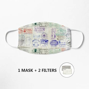 Camino de Santiago pilgrim's credential Mask Mask Face Mask Cotton Fabric Washable filter pocket Unisex Cotton image