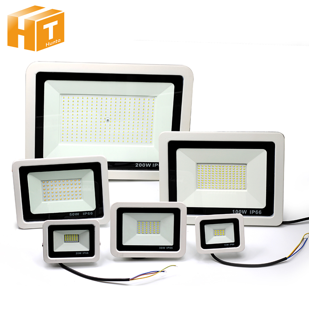 LED spot 220V 10W 20W 30W 50W 100W LED projektör su geçirmez IP65 duvar açık aydınlatma Spot ışık yol açtı.