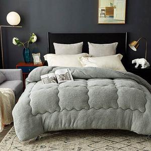 Image 1 - Svetanya edredón cálido grueso para cama, relleno de Cachemira de cordero Artificial, manta