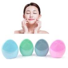 Мини силиконовая щетка для очищения лица, электрическое очищающее средство для лица, электрическое очищающее средство для лица, очищающее кожу, Массажная щетка для глубокого умывания