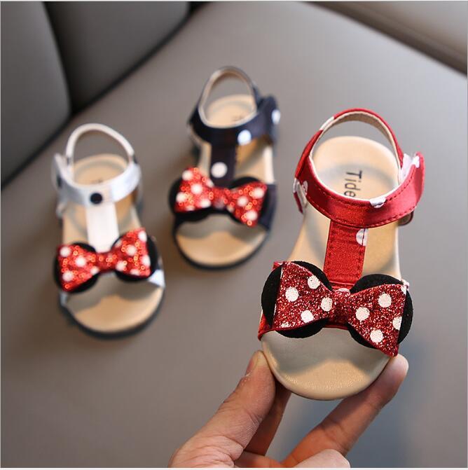 Girls Princess Sandals 2020 New Brand Summer Kids Sandal Bowknow Flat Children Shoes For Baby Girls Beach Sandals EU 21~30