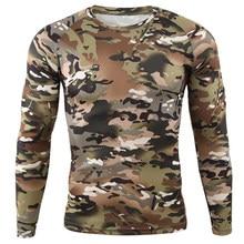Camiseta táctica militar para hombre, ropa informal deportiva de camuflaje, manga larga, secado rápido, ejército, senderismo, caza y pesca