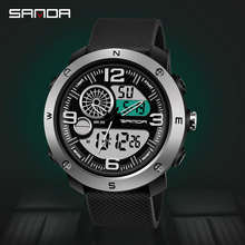 Fashion Digital Watch Waterproof Shockproof Outdoor Sport Watch for Men Calendar Luminous Electronic Clock Men Military Reloj bicycle mounted waterproof shockproof mini aluminium alloy luminous clock watch gold silver