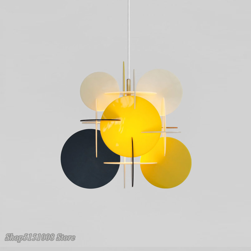 US $91.97 30% OFF|modern LED living room pendant lights Nordic Creative DIY splice Acrylic colorful children