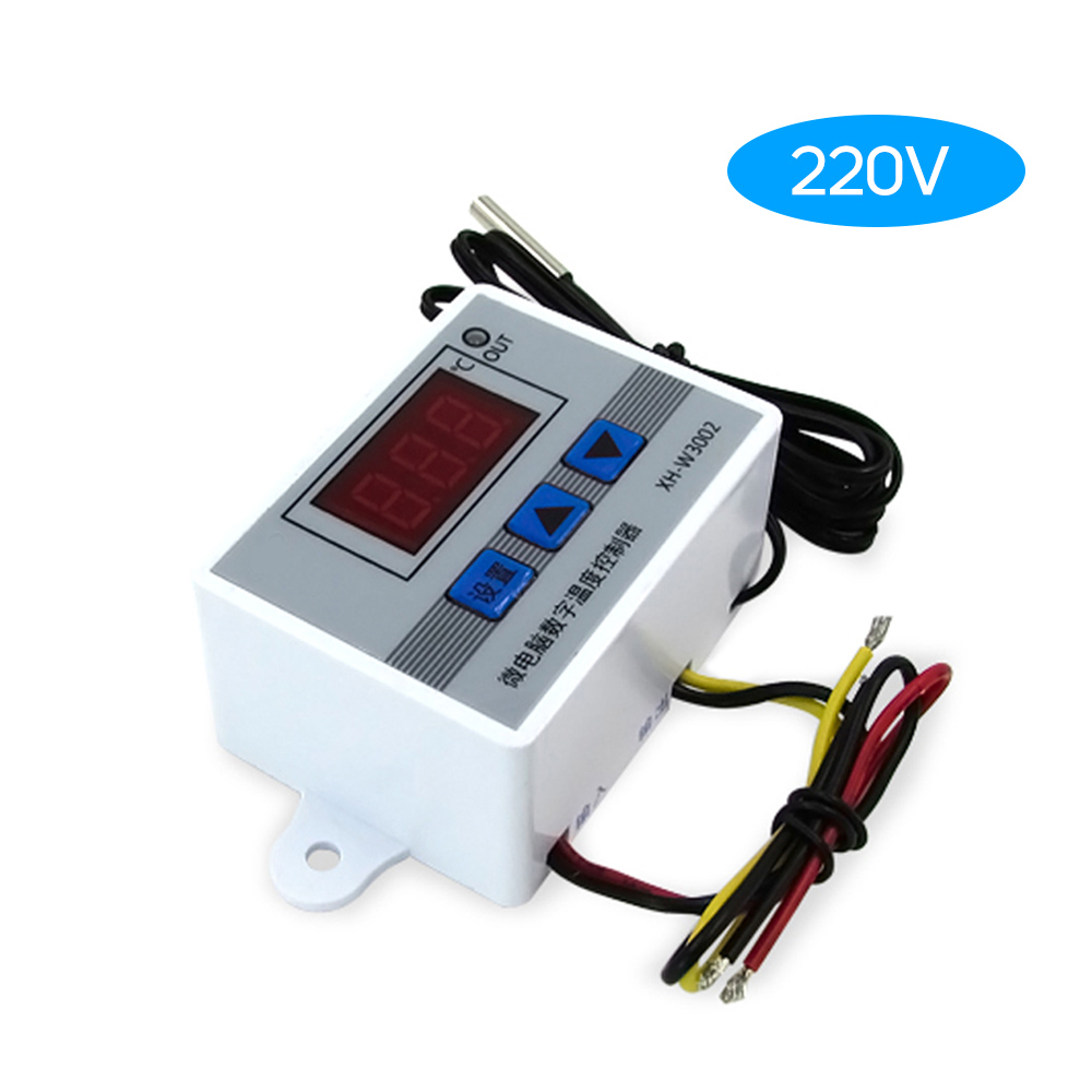 12V/24V/220V Intelligent Led Digital Microcomputer Temperature Controller Thermostat Switch with Water-resistant Sensor Probe(China)