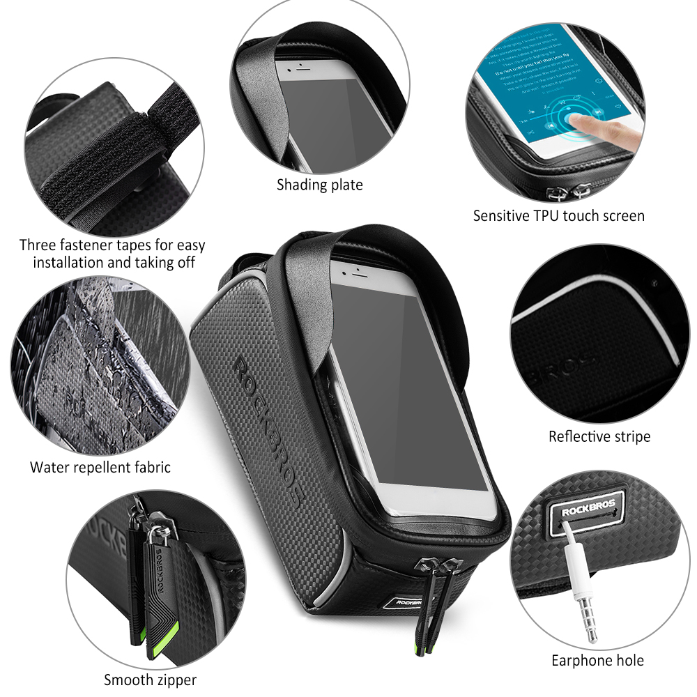 Cheap Bike Phone Bag Top Tube Bag Cycling Front Frame Bag Phone Holder Touch Screen Bike Phone Pouch Front Pannier Case 3