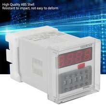 DH48J 220VAC repeat cycle time relay Digital Counter Relay LED Display 1-999900 8-Pin with socket