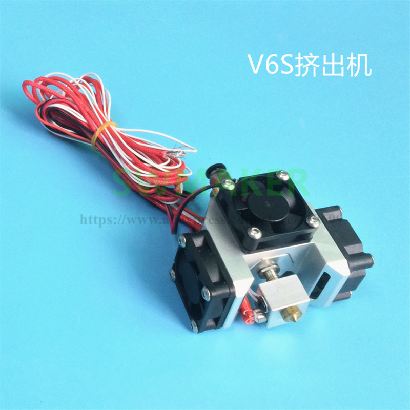 2019 Newest E3D Improved V6 Hexagon Hot End Extruder Super Thermal Dissipation Effect With 3pcs 3010 Fans For 3D Printer Parts