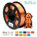 Filamento de seda PLA cobre seda 1kg 2,2 lbs 1,75mm por rollo 3D filamento de impresora DIY para Recargas de impresión 3D