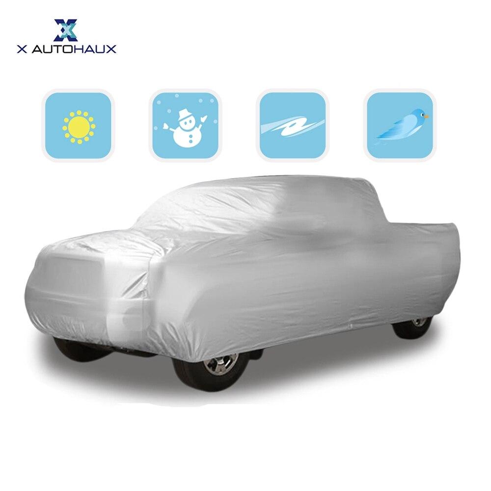 X autohaux 6,5 M 6,8 MTruck cubierta de coche impermeable a prueba de lluvia nieve sol UV camión Pickup exterior Interior cubierta de coche Protector