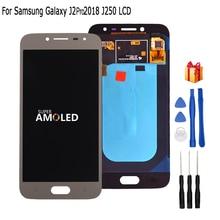 Originele Amoled LCD J250 Voor Samsung Galaxy J2 pro 2018 J250 J250F Lcd touch screen digitizer vergadering Telefoon Onderdelen