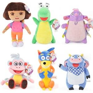 Véritable 15-30cm Dora l'exploratrice en peluche mignon aventureux Dora bottes Swiper Tico Isa enfants anniversaire poupée jouet pour enfants fille