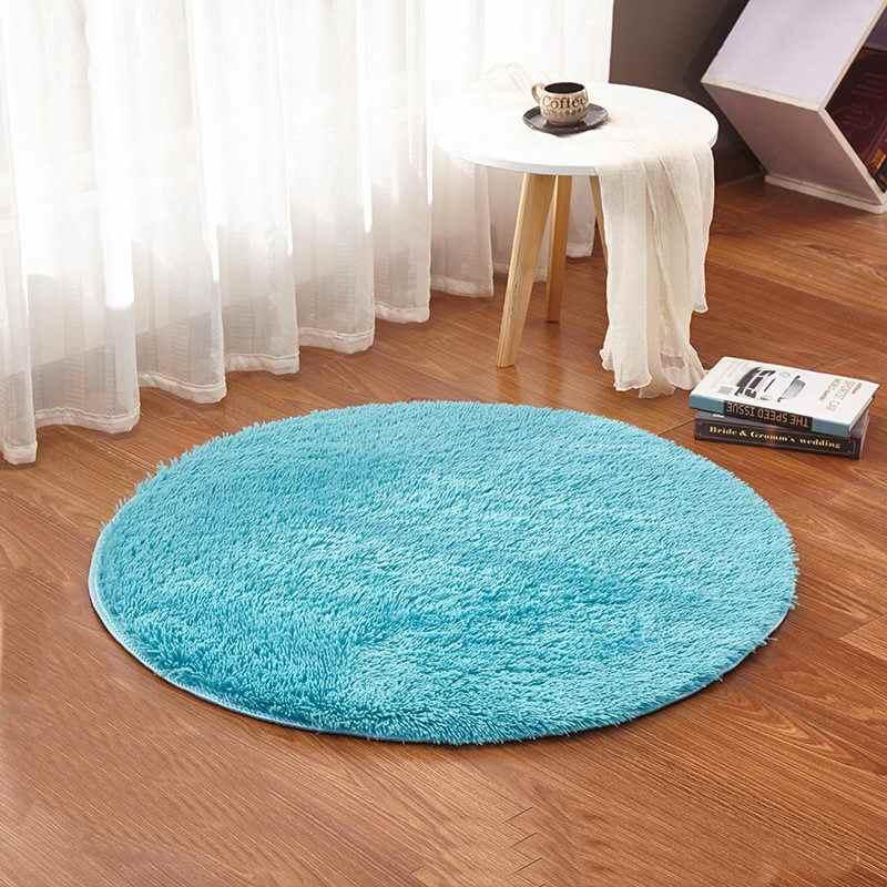 화이트 컬러 라운드 러그 카펫 거실 카펫 키즈 룸 러그 부드럽고 푹신한 따뜻한, 사용자 정의 크기, 직경 60,80,100,160cm
