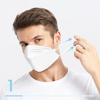 Mask Mascarilla Maska 3pcs Face Pm2.5 Valved Mask Anti Bacteria Filtered Flu Filter Earloop Маски