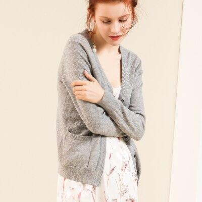Шерсть вязаный Топ Зимний мягкий женский шерстяной свободный свитер s m l xl - Цвет: GREY MY1821