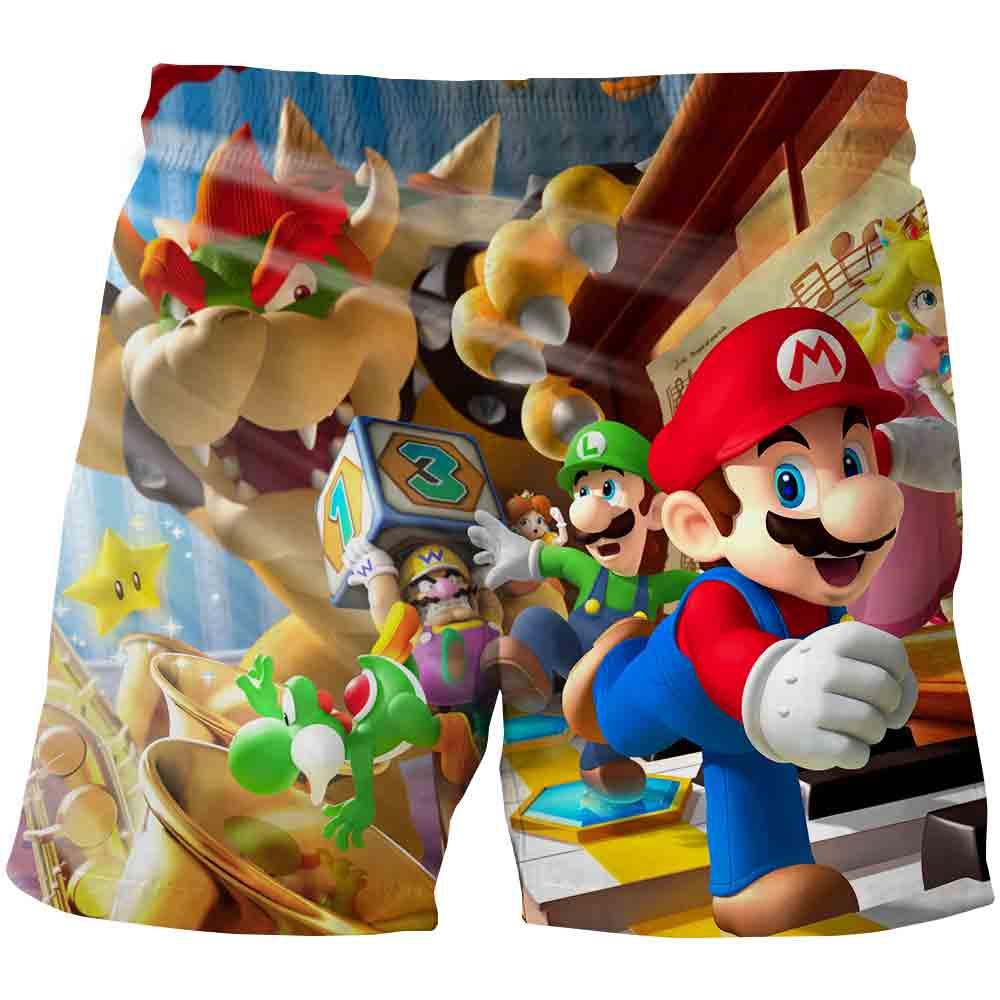 Summer New Cartoon Anime 3D Printing Kids Beach Shorts Casua Loose Children Swim Shorts Boys Girls Short Fashion Beach Short