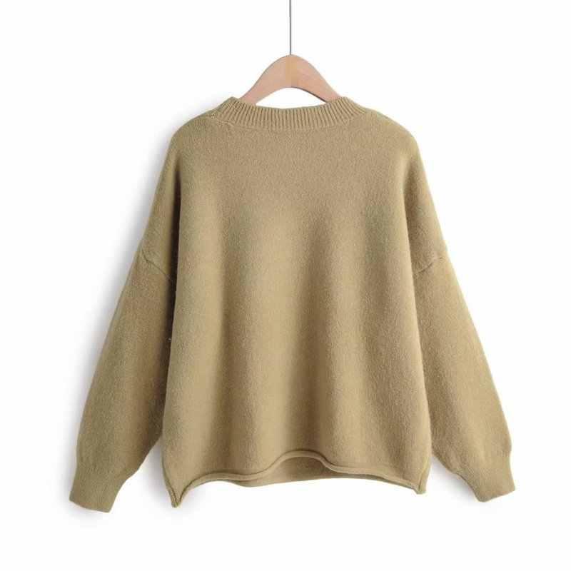 Baru Kedatangan XL50-2048 Euro-American Modis dan Peduli Dicetak Sweater