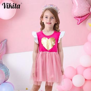 VIKITA Girls Princess Dress Kids Unicorn Dresses Children Vestidos 2019 Tutu Summer For Girl
