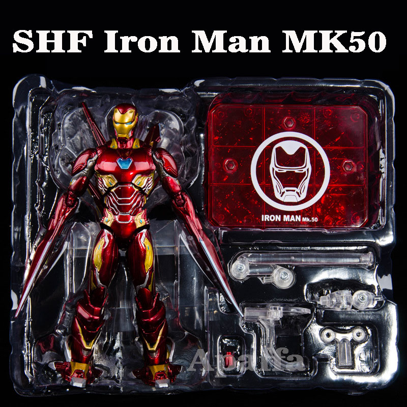 12 Styles SHF Figure Iron Man MK50/MK47/MK46 PVC Marvel Avengers Infinity War Action Figure Toys Iron Spider Spiderman Model Toy