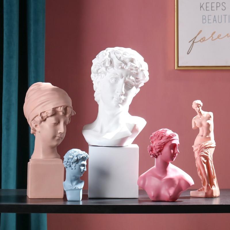 Nordic David/Venus Bust Sculpture Sketch Character Portrait Living Room Figure Venus Art statue Home Modern Crafts Decoration