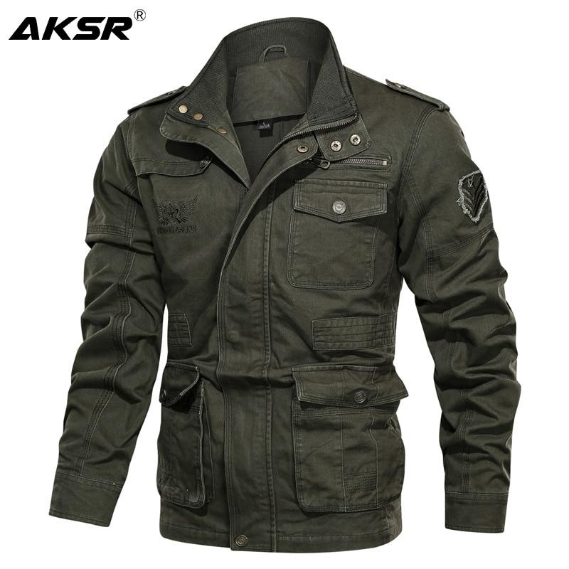 Men Military Bomber Jacket Spring Autumn Large Size Tactical Jackets Coats Casual Cargo Jacket Men Army Coat Chaquetas Hombre