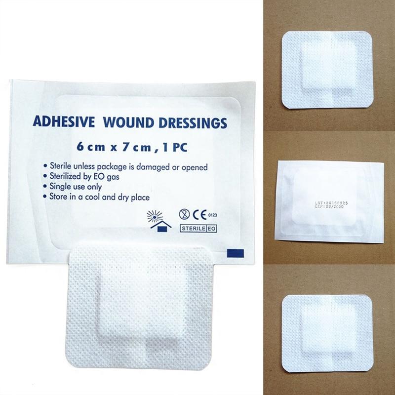 10 Teile/los Große Größe Wasserdichte Atmungsaktive vlies Band Aid Hämostase Klebstoff Bandagen Erste Hilfe Notfall Kit Überleben Kit