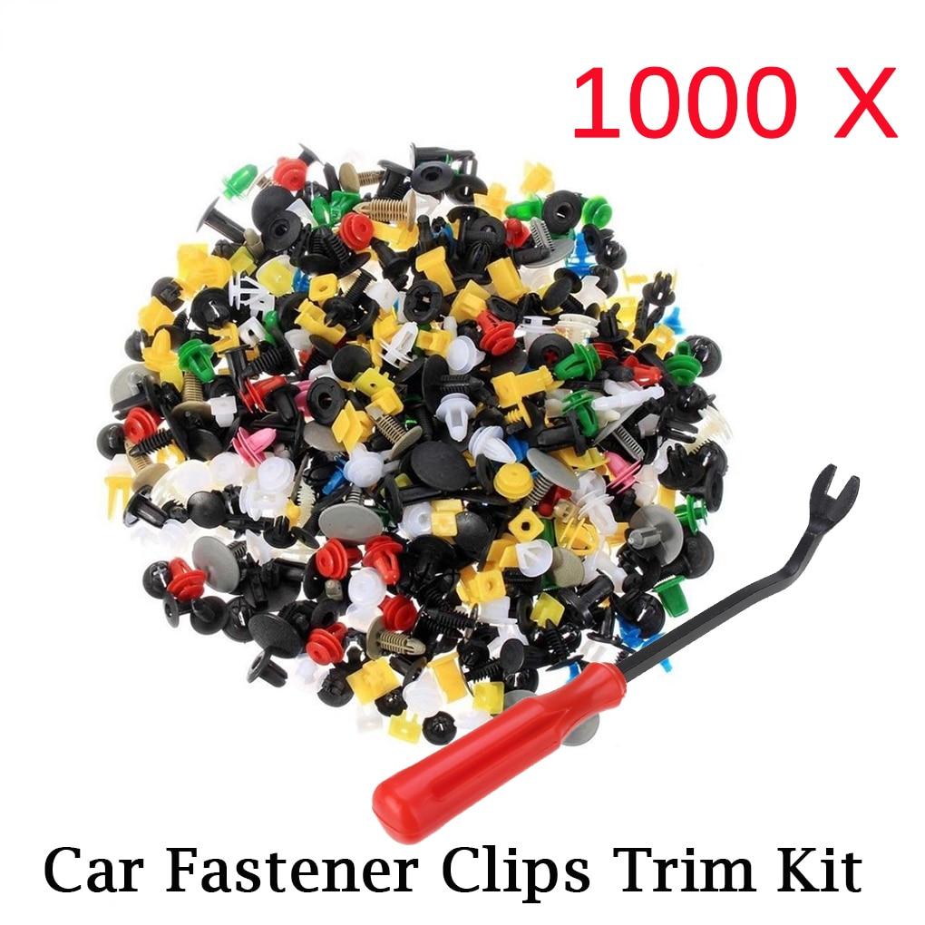 Rivet Door-Panel-Liner Car-Bumper-Clips Car-Fastener Universal 1000pcs Mixed for All-Car