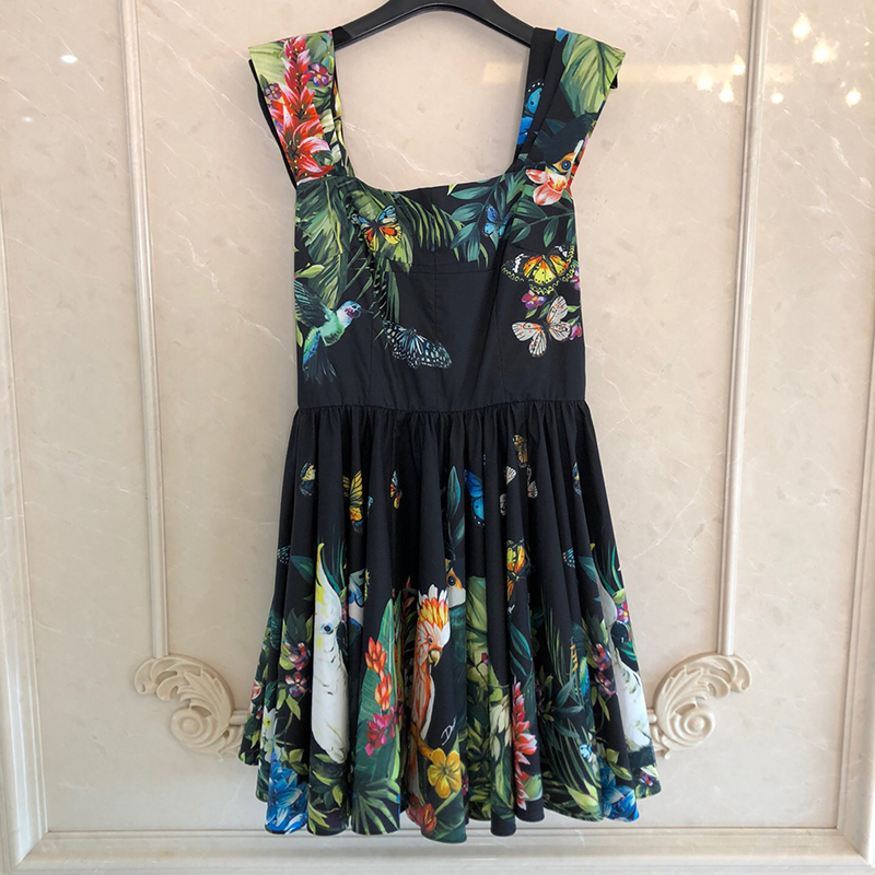<font><b>Casual</b></font> Women <font><b>Sexy</b></font> <font><b>Dress</b></font> Fashion Sleeveless Sundress Print Beach Floral Tank <font><b>Mini</b></font> <font><b>Dresses</b></font> image