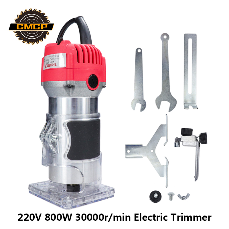 "800w Wood Trimmer Machine 1//4/"" Collet// Fresadora para Madera con pinza de 6,35mm"