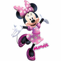 Cartoon Minnie mouse Wall Stickers Home Mural Art Decals For Kid's Room birthday Gift Kid's gift wall sticker's for Kid's room