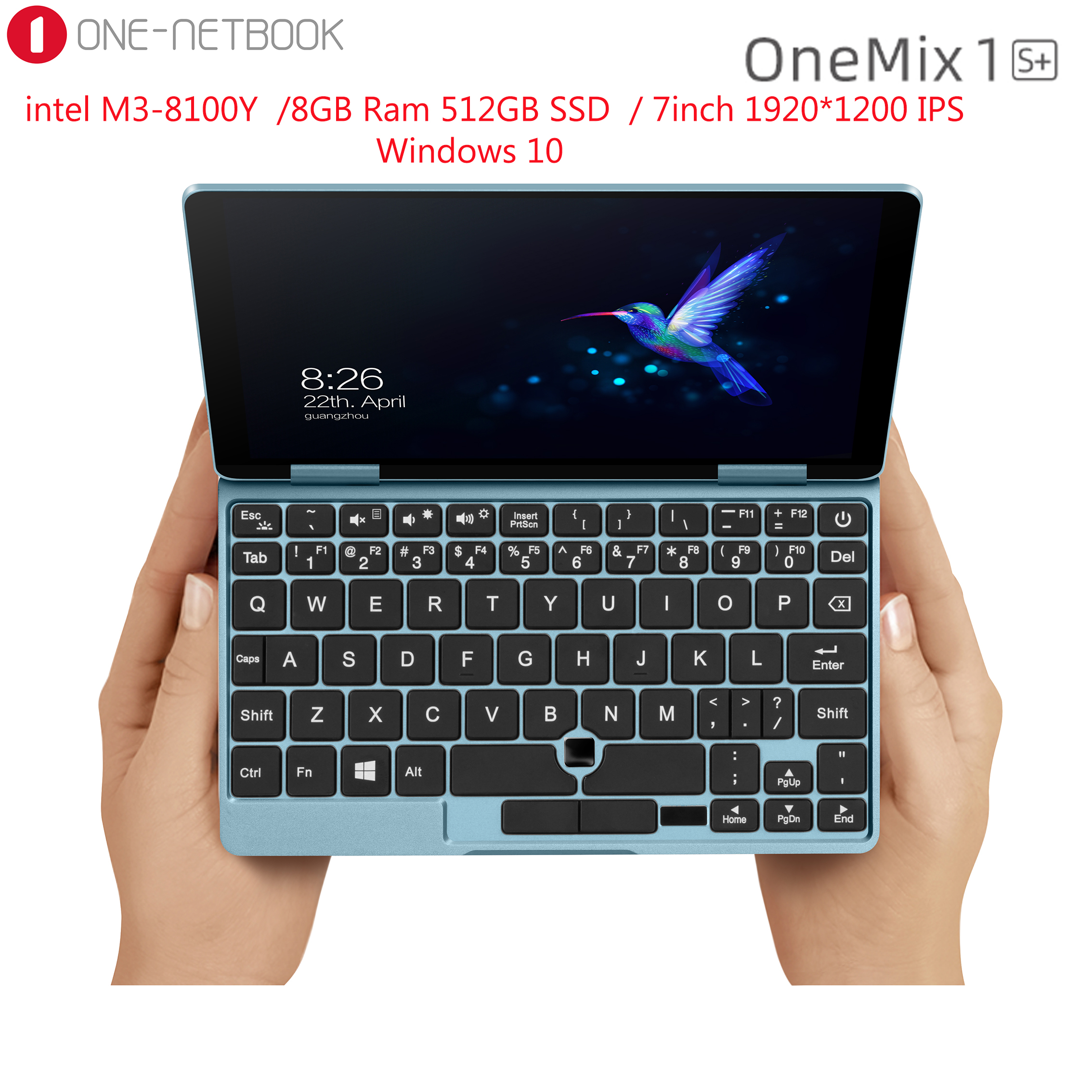 7 <font><b>Inch</b></font> 1920*1200 IPS Mini <font><b>Laptop</b></font> One Netbook Onemix 1s+ 8GB Ram 256GB PCIe SSD Pocket PC Intel Core M3-8100Y Windows 10 image