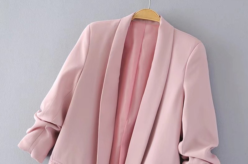 Drape Fold Shawl Collar Big Pockets casual blazer jacket office lady Autumn 2019 spring Long-Sleeve Female Small Suit
