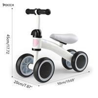 Pokich Children's Scooter Baby Scooter Two Wheels No Pedal Bike Children Balance Bikes Baby Walker Infant Gift for Infant Toys