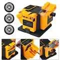 Amoladora 3 en 1 de 96 W/65 W, afiladora de cuchillos multifunción, afilador de pulido eléctrico para el hogar de EE. UU./UE para taladro de tijera