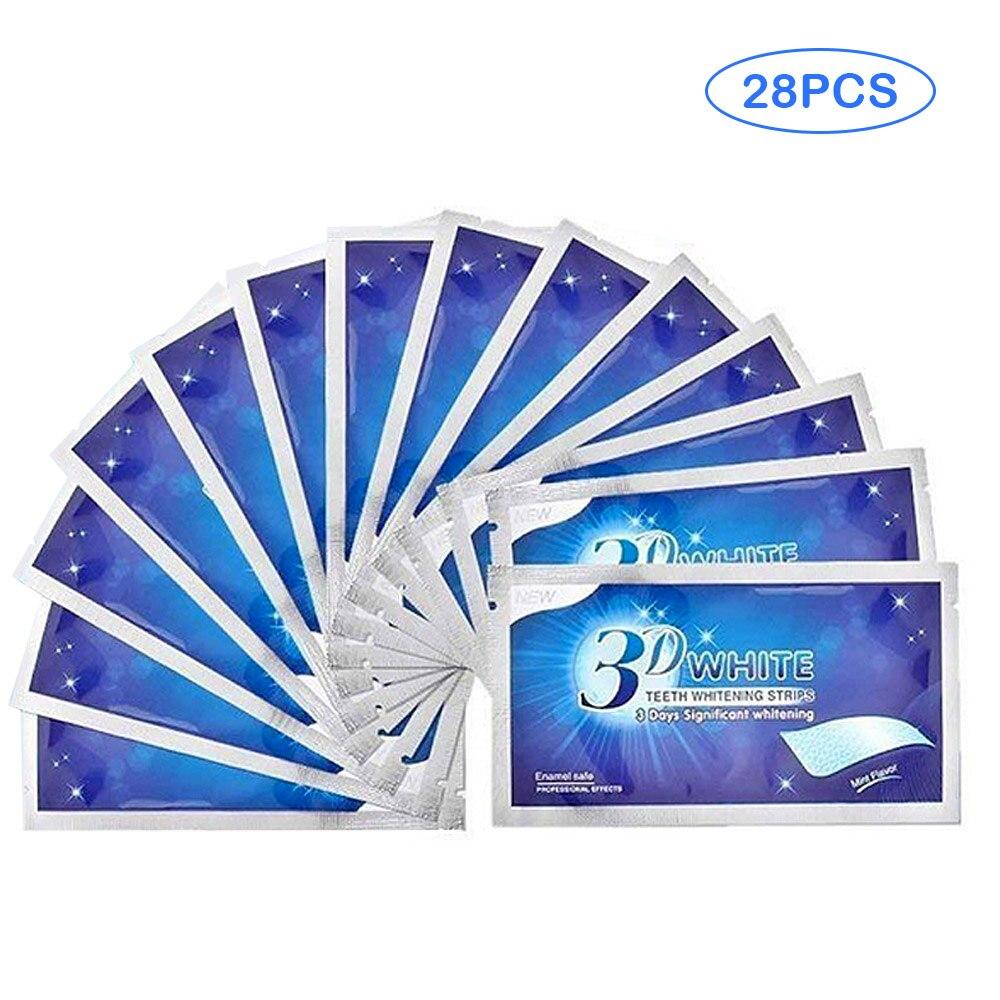 14 Pairs 3D White Gel Teeth Whitening Strips Stain Removal Oral Hygiene Care Strip Dental Bleaching Tools Teeth Whitening Tool