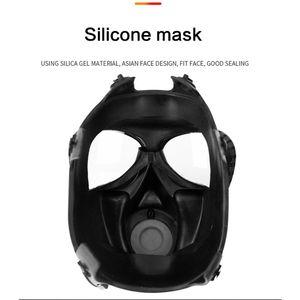 Image 5 - מלא Facemask הנשמה Airsoft גז מסכת משקפי CS זיעה אבק מסיכת פן כימיה צבע E65A